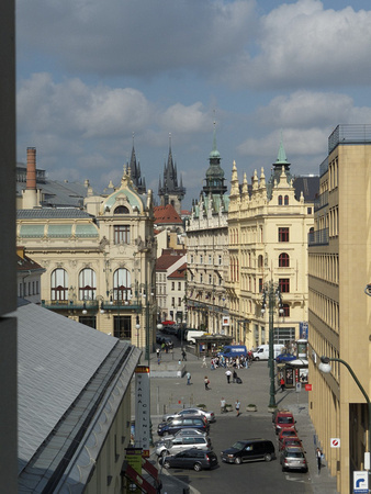View from hotel room - Marriott Praha